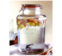 Wholesale 8L Clear Glass Drink Dispenser Juice Dispenser Beverage Dispenser