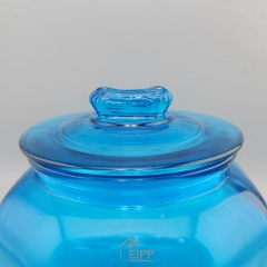 Wholesale Colored Glass Container 3L Glass Tube Jar Glass Storage Box