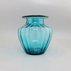 Different Types of Flower Vase Shapes Blue Home Decor with Lines