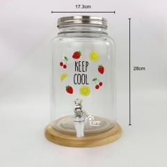 Wholesale Glass Beverage Dispenser Glass Juice Dispenser With Tap Table Dispenser