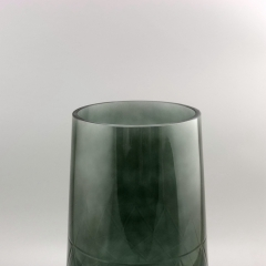 Home Goods Decorative Blown Art Tapered Glass Vase