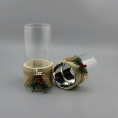 Christmas Small Size Glass Vases Cylinder Home Accessories Vase